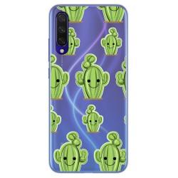 Funda Gel Transparente para Xiaomi Mi 9 Lite diseño Cactus Dibujos