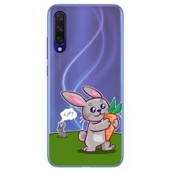 Funda Gel Transparente para Xiaomi Mi 9 Lite diseño Conejo Dibujos