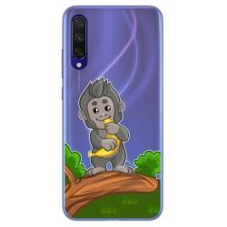 Funda Gel Transparente para Xiaomi Mi 9 Lite diseño Mono Dibujos