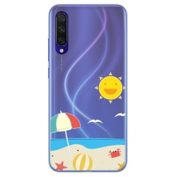 Funda Gel Transparente para Xiaomi Mi 9 Lite diseño Playa Dibujos