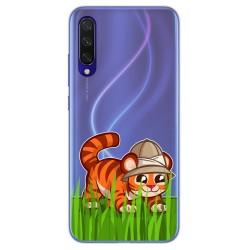 Funda Gel Transparente para Xiaomi Mi 9 Lite diseño Tigre Dibujos