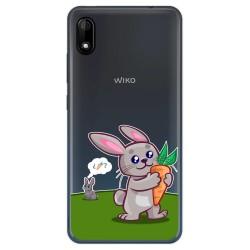 Funda Gel Transparente para Wiko Y70 diseño Conejo Dibujos