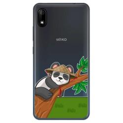 Funda Gel Transparente para Wiko Y70 diseño Panda Dibujos