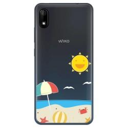 Funda Gel Transparente para Wiko Y70 diseño Playa Dibujos