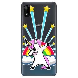 Funda Gel Transparente para Wiko Y70 diseño Unicornio Dibujos