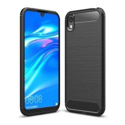 Funda Gel Tpu Tipo Carbon Negra para Huawei Y5 2019