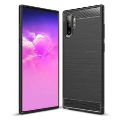 Funda Gel Tpu Tipo Carbon Negra para Samsung Galaxy Note10+