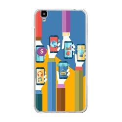 "Funda Gel Tpu para Bluboo Maya 5.5"" Diseño Apps Dibujos"