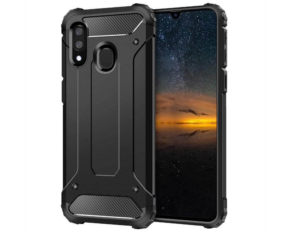 Funda Tipo Hybrid Tough Armor (Pc+Tpu) Negra para Samsung Galaxy A20e 5.8