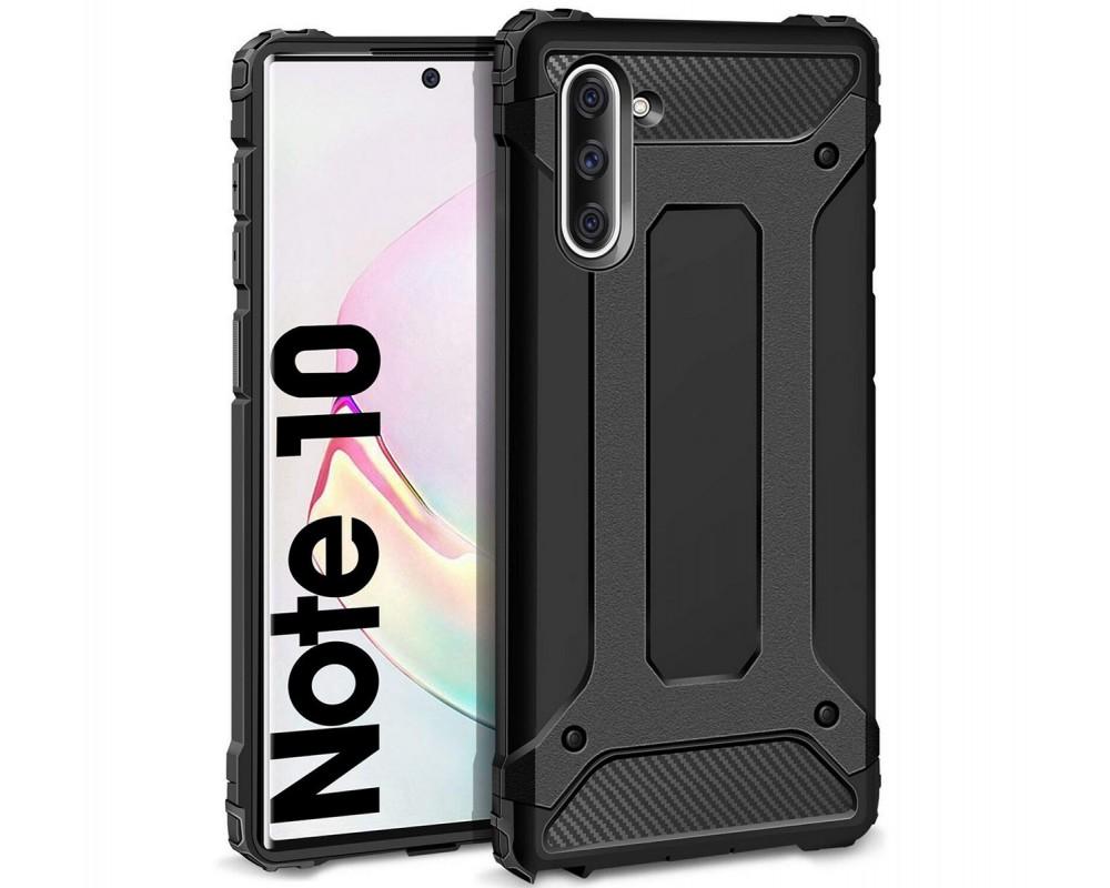 Funda Tipo Hybrid Tough Armor (Pc+Tpu) Negra para Samsung Galaxy Note10