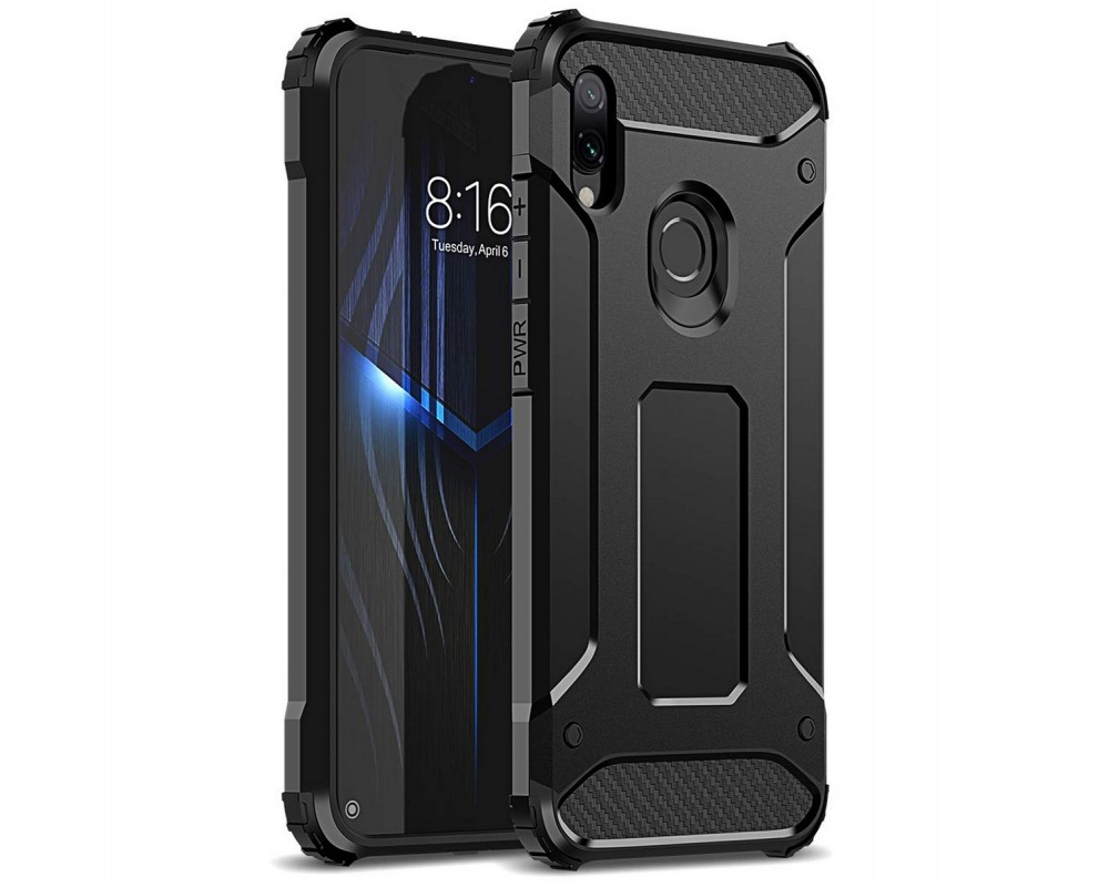Funda Tipo Hybrid Tough Armor (Pc+Tpu) Negra para Xiaomi Redmi Note 7