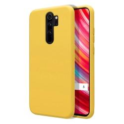 Funda Silicona Líquida Ultra Suave para Xiaomi Redmi Note 8 Pro color Amarilla