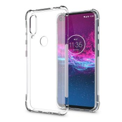 Funda Gel Tpu Anti-Shock Transparente para Motorola One Action
