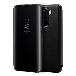 Funda Flip Cover Clear View para Xiaomi Redmi Note 8 Pro color Negra