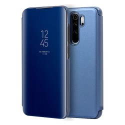 Funda Flip Cover Clear View para Xiaomi Redmi Note 8 Pro color Azul