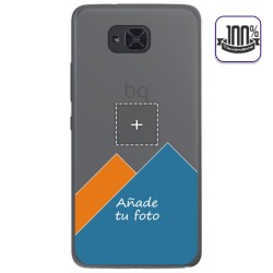 Personaliza tu Funda Gel 100% Transparente con tu Fotografia para Bq Aquaris U2 / U2 Lite dibujo personalizada
