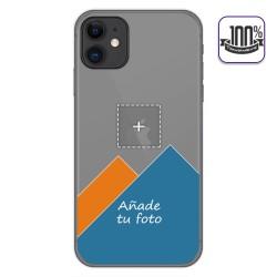 Personaliza tu Funda Gel 100% Transparente con tu Fotografia para Iphone 11 (6.1) dibujo personalizada