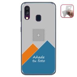 Personaliza tu Funda Gel Mate con tu Fotografia para Samsung Galaxy A40 dibujo personalizada