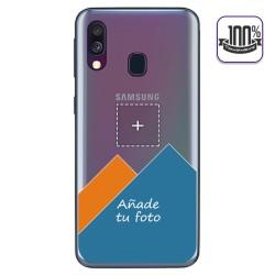 Personaliza tu Funda Gel 100% Transparente con tu Fotografia para Samsung Galaxy A40 dibujo personalizada