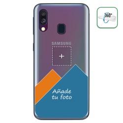 Personaliza tu Funda Pc + Tpu 360 con tu Fotografia para Samsung Galaxy A40 dibujo personalizada