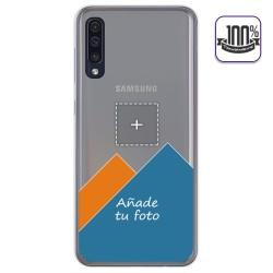 Personaliza tu Funda Gel 100% Transparente con tu Fotografia para Samsung Galaxy A50 / A50s / A30s dibujo personalizada