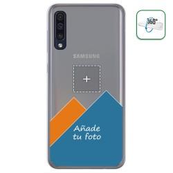 Personaliza tu Funda Pc + Tpu 360 con tu Fotografia para Samsung Galaxy A50 dibujo personalizada
