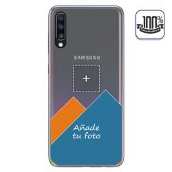 Personaliza tu Funda Gel 100% Transparente con tu Fotografia para Samsung Galaxy A70 dibujo personalizada