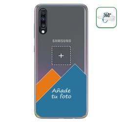Personaliza tu Funda Pc + Tpu 360 con tu Fotografia para Samsung Galaxy A70 dibujo personalizada