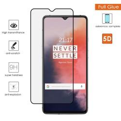 Protector Cristal Templado Completo 5D Full Glue Negro para Oneplus 7T Vidrio