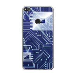 Funda Gel Tpu para Huawei P8 Lite 2017 Diseño Circuito Dibujos