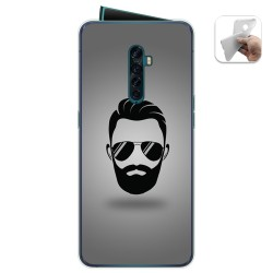 Funda Gel Tpu para Oppo Reno 2 diseño Barba Dibujos