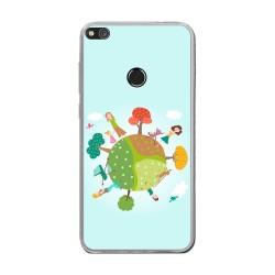 Funda Gel Tpu para Huawei P8 Lite 2017 Diseño Familia Dibujos