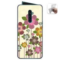 Funda Gel Tpu para Oppo Reno 2 diseño Primavera En Flor Dibujos