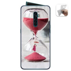 Funda Gel Tpu para Oppo Reno 2 diseño Reloj Dibujos