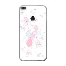 Funda Gel Tpu para Huawei P8 Lite 2017 Diseño Flores-Minimal Dibujos