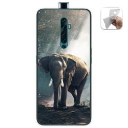 Funda Gel Tpu para Oppo Reno 2Z diseño Elefante Dibujos