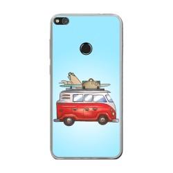Funda Gel Tpu para Huawei P8 Lite 2017 Diseño Furgoneta Dibujos
