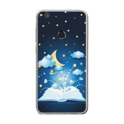 Funda Gel Tpu para Huawei P8 Lite 2017 Diseño Libro-Cuentos Dibujos