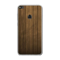 Funda Gel Tpu para Huawei P8 Lite 2017 Diseño Madera Dibujos