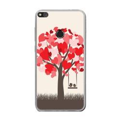 Funda Gel Tpu para Huawei P8 Lite 2017 Diseño Pajaritos Dibujos
