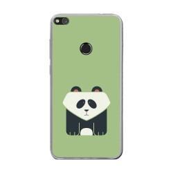 Funda Gel Tpu para Huawei P8 Lite 2017 Diseño Panda Dibujos
