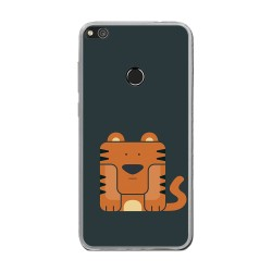 Funda Gel Tpu para Huawei P8 Lite 2017 Diseño Tigre Dibujos