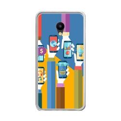 "Funda Gel Tpu para Meizu M5 5.2"" Diseño Apps Dibujos"