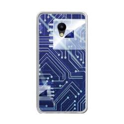 "Funda Gel Tpu para Meizu M5 5.2"" Diseño Circuito Dibujos"