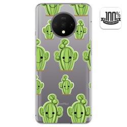 Funda Gel Transparente para Oneplus 7T diseño Cactus Dibujos
