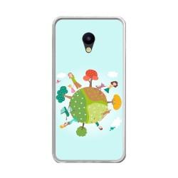 """Funda Gel Tpu para Meizu M5 5.2"""" Diseño Familia Dibujos"""