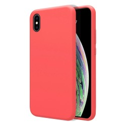Funda Silicona Líquida Ultra Suave para Iphone Xs Max color Rosa