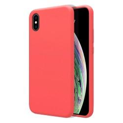 Funda Silicona Líquida Ultra Suave para Iphone Xs Max color Rosa