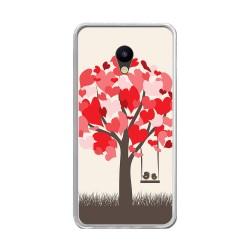"Funda Gel Tpu para Meizu M5 5.2"" Diseño Pajaritos Dibujos"