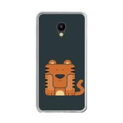"""Funda Gel Tpu para Meizu M5 5.2"""" Diseño Tigre Dibujos"""